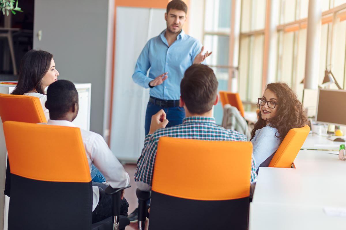Team developing great leadership